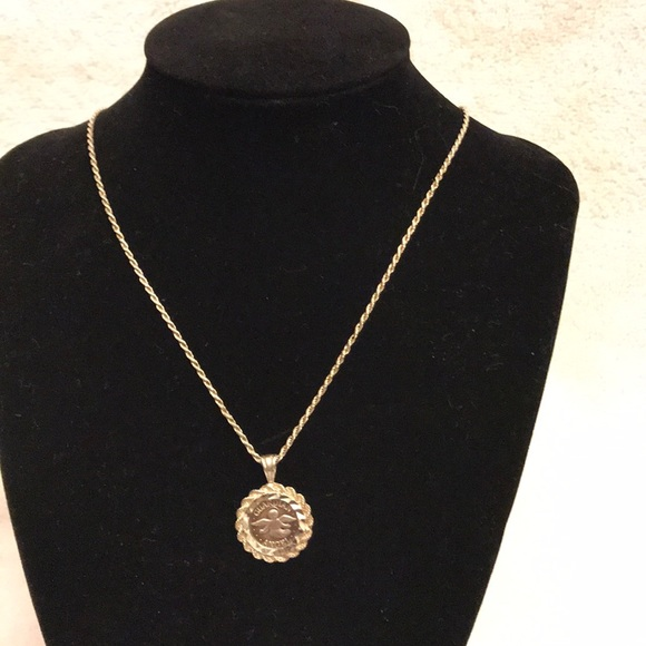 Jewelry - Sterling silver Guardian Angel coin necklace